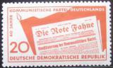 Poštovní známka DDR 1958 Komunistická strana Mi# 672