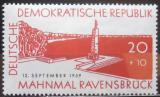Poštovní známka DDR 1959 Monument v Ravensbrucku Mi# 720