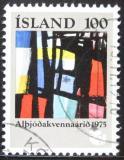 Poštovní známka Island 1975 Abstraktní umění Mi# 510