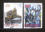 Poštovní známky Faerské ostrovy 1995 Kostel Panny Marie Mi# 289-90