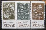 Poštovní známky Faerské ostrovy 1984 Pohádky,tripl Mi# 107-09 Kat 16.5€