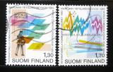 Poštovní známky Finsko 1983 Světový rok komunikace Mi# 924-25