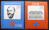 Poštovní známka DDR 1966 Jan Arnost Smoler Mi# 1165-66