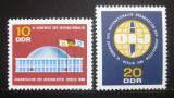 Poštovní známky DDR 1966 Novinářská organizace Mi# 1212-13