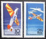 Poštovní známky DDR 1968 MS v letecké akrobacii Mi# 1391-92