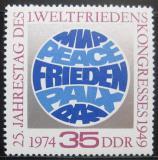 Poštovní známka DDR 1974 Mírový kongres Mi# 1946