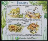 Poštovní známky Burundi 2012 Dinosauři Mi# 2555-58 Kat 9.50€