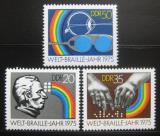 Poštovní známky DDR 1975 Světový rok Braille Mi# 209-92