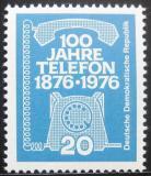 Poštovní známka DDR 1976 Telefon, 100. výročí Mi# 2118