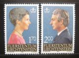 Poštovní známky Lichtenštejnsko 1984 Knížecí pár Mi# 864-65