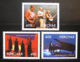 Poštovní známky Faerské ostrovy 1993 Umělci Mi# 243-45