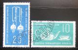 Poštovní známky DDR 1959 Výrobky ze skla, Jena Mi# 713-14