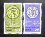 Poštovní známky DDR 1965 ITU, 100. výročí Mi# 1113-14