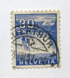 Poštovní známka Švýcarsko 1934 Rýnské vodopády Mi# 276