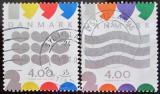 Poštovní známky Dánsko 1999 Nový Rok Mi# 1231-32