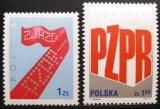 Poštovní známky Polsko 1975 Sjezd dělnické strany Mi# 2419-20