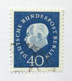 Poštovní známka Západní Berlín 1959 Prezident Heuss Mi# 185 Kat 6€