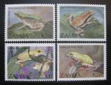 Poštovní známky Zambie 1989 Žáby Mi# 470-73