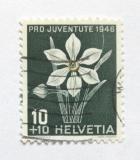 Poštovní známka Švýcarsko 1946 Narcisy Mi# 476