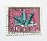 Poštovní známka Švýcarsko 1959 Turmalín Mi# 676