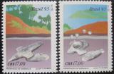 Poštovní známky Brazílie 1993 Ochrana Sambaquis Mi# 2544-45
