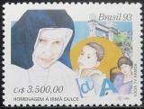 Poštovní známka Brazílie 1993 Sestra Irma Dulce Mi# 2510
