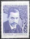 Poštovní známka Rakousko 1976 Rainer Maria Rilke, básník Mi# 1539