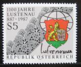 Poštovní známka Rakousko 1987 Lustenau, městský erb Mi# 1885