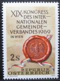 Poštovní známka Rakousko 1969 Nejstarší pečeť Vídně Mi# 1303