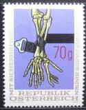 Poštovní známka Rakousko 1975 Používání automobilových pásů Mi# 1483