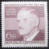 Poštovní známka Rakousko 1981 Julius Raab, politik Mi# 1690