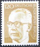 Poštovní známka Západní Berlín 1972 Prezident Heinemann Mi# 395