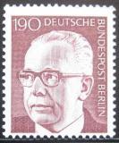 Poštovní známka Západní Berlín 1973 Prezident Heinemann Mi# 433