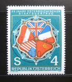 Poštovní známka Rakousko 1980 Vlajky aliance Mi# 1641