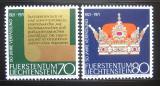 Poštovní známky Lichtenštejnsko 1971 Ústava Mi# 546-47