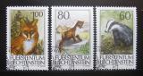 Poštovní známky Lichtenštejnsko 1993 Divoká zvěř Mi# 1066-68