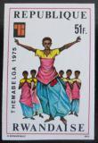 Poštovní známka Rwanda 1975 Kostýmy neperf. Mi# 773 B