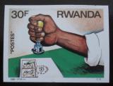 Poštovní známka Rwanda 1986 Razítkování neperf. Mi# 1328 B