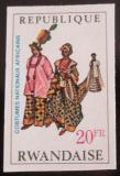 Poštovní známka Rwanda 1968 Nigerijské ženy neperf. Mi# 293 B