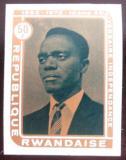 Poštovní známka Rwanda 1972 Prezident Kayibanda neperf. Mi# 520 B Kat 7€