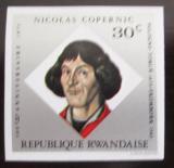 Poštovní známka Rwanda 1973 Mikuláš Kopernik neperf. Mi# 613 B