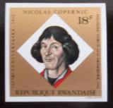 Poštovní známka Rwanda 1973 Mikuláš Kopernik neperf. Mi# 616 B