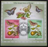 Poštovní známky Guinea-Bissau 2010 Motýli a flóra Mi# Block 874 Kat 12€