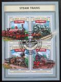 Poštovní známky Sierra Leone 2016 Parní lokomotivy Mi# 7863-66 Kat 11€
