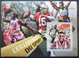 Poštovní známka Burundi 2012 Slavní sportovci Mi# Block 193 Kat 9€