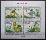 Poštovní známky Burundi 2013 Kriket Mi# 3283-86 Kat 9.90€