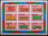 Poštovní známky Gambie 1991 Vagóny Mi# 1219-27