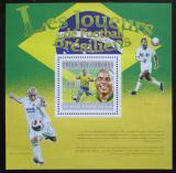 Poštovní známka Komory 2010 Brazilští fotbalisti Mi# Block 596 Kat 15€