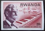 Poštovní známka Rwanda 1976 Albert Schweitzer neperf. Mi# 775 B