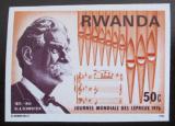 Poštovní známka Rwanda 1976 Albert Schweitzer neperf. Mi# 777 B